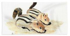 Golden-mantled Ground Squirrels Bath Towel