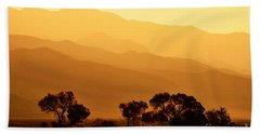 Golden Mountain Light Hand Towel by David Lawson