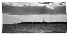Golden Rays At Cape May Bw Hand Towel