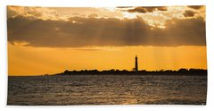 Golden Rays At Cape May Hand Towel