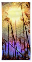 Hand Towel featuring the photograph Golden Sun Rays On Beach Grass by Janine Riley