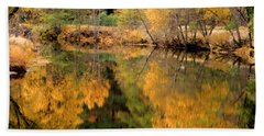 Golden Reflections Hand Towel