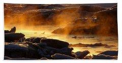 Golden Sea Smoke At Sunrise Hand Towel by Dianne Cowen