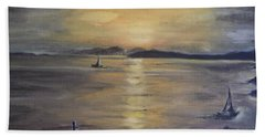 Golden Sea View Bath Towel