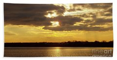Bath Towel featuring the photograph Golden Sunset by John Telfer