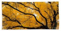 Golden Tree Hand Towel