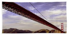 Goldengate Bridge San Francisco Hand Towel by Bob and Nadine Johnston