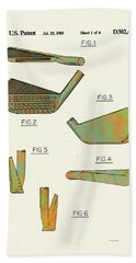 Golf Club Patent-1989 Bath Towel