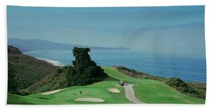 Golf Course At The Coast, Torrey Pines Hand Towel