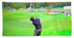 Golf Swing Drive Hand Towel