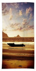 Beach Hand Towel featuring the photograph Gone Fishin' by Aaron Berg