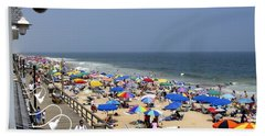 Good Beach Day At Bethany Beach In Delaware Hand Towel