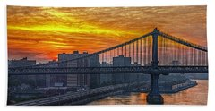 Good Morning New York Hand Towel by Hanny Heim