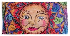 Hand Towel featuring the drawing Good Morning Sunshine by Megan Walsh