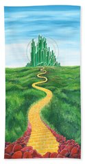 Goodbye Yellow Brick Road Hand Towel