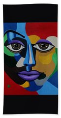 Google Me - Abstract Art Painting - Colorful Abstract Face - Ai P. Nilson Hand Towel