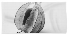Gooseberry In Black And White Bath Towel