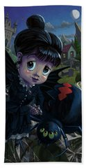 Goth Girl Fairy With Spider Widow Hand Towel by Martin Davey