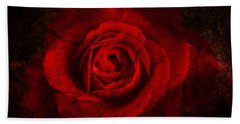 Hand Towel featuring the digital art Gothic Red Rose by Absinthe Art By Michelle LeAnn Scott