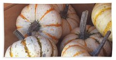 Hand Towel featuring the photograph Gourd Harvest by Denyse Duhaime