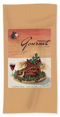 Gourmet Cover Featuring A Boar's Head Bath Towel