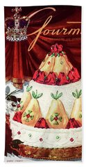 Gourmet Cover Featuring A Cake Bath Towel