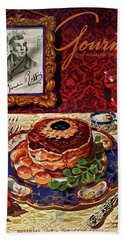 Gourmet Cover Featuring A Plate Of Tournedos Bath Towel