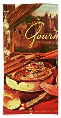 Gourmet Cover Featuring A Pot Of Stew Hand Towel