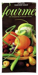 Gourmet Cover Featuring A Variety Of Fruit Bath Towel