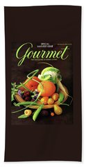 Gourmet Cover Featuring A Variety Of Fruit Hand Towel by Romulo Yanes