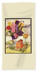 Gourmet Cover Featuring Sweetbread And Asparagus Bath Towel