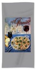Gourmet Cover Illustration Of A Platter Bath Towel by Henry Stahlhut