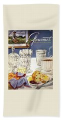 Gourmet Cover Illustration Of Cranberry Muffins Hand Towel