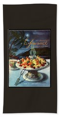 Gourmet Cover Illustration Of Fruit Dish Bath Towel