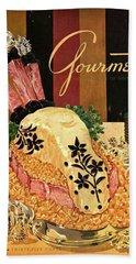 Gourmet Cover Illustration Of Langue De Boeuf Bath Towel