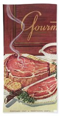 Gourmet Cover Of A Roast Beef Bath Towel