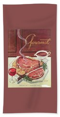 Gourmet Cover Of A Roast Beef Bath Towel