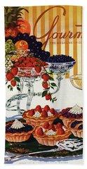 Gourmet Cover Of Fruit Tarts Bath Towel