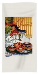 Gourmet Cover Of Fruit Tarts Bath Towel