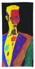 Grace Jones Bath Towel by Stormm Bradshaw