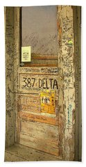 Graffiti Door - Ground Zero Blues Club Ms Delta Hand Towel