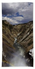 Hand Towel featuring the photograph Grand Canyon Of The Yellowstone - 25x63 by J L Woody Wooden