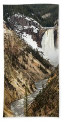 Grand Canyon Of The Yellowstone Hand Towel
