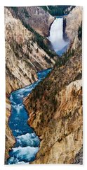 Grand Canyon Of Yellowstone Hand Towel