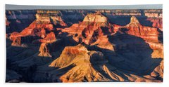 Bath Towel featuring the painting Grand Canyon Sunset by Christopher Arndt