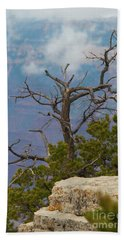 Bath Towel featuring the photograph Grand Canyon Tree by Rod Wiens