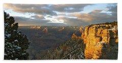 Grand Canyon. Winter Sunset Hand Towel