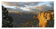 Grand Canyon. Winter Sunset Bath Towel