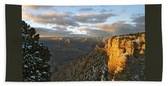 Grand Canyon. Winter Sunset Bath Towel