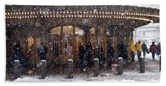 Grand Central Terminal Snow Color Bath Towel